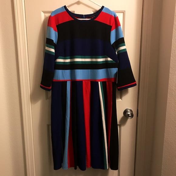 96c5a129848 Eloquii Opposing Striped Knit Dress. NWT. Eloquii.  100  130. Size. 16